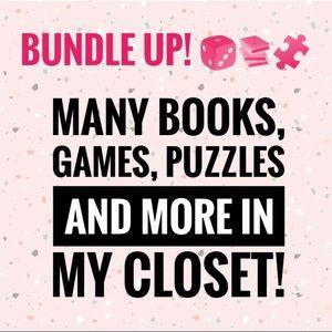 Bundle up and save! 📚🎲🧩👕